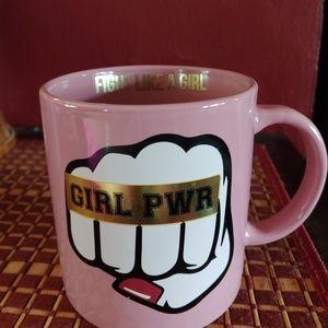 Large fight like a girl coffee mug